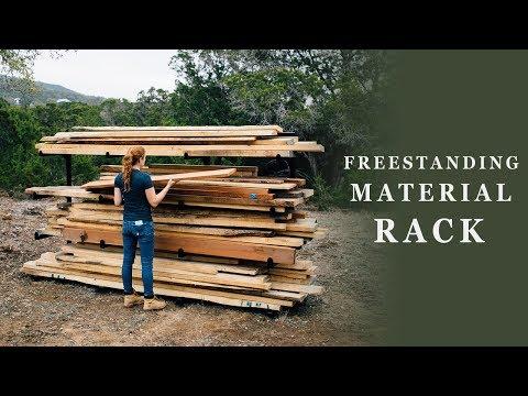 Build A Freestanding Material Rack
