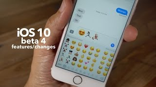 New iOS 10 beta 4 features / changes!