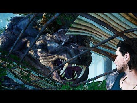 Final Fantasy 15: Deadeye Behemoth Boss Fight (1080p 60fps)