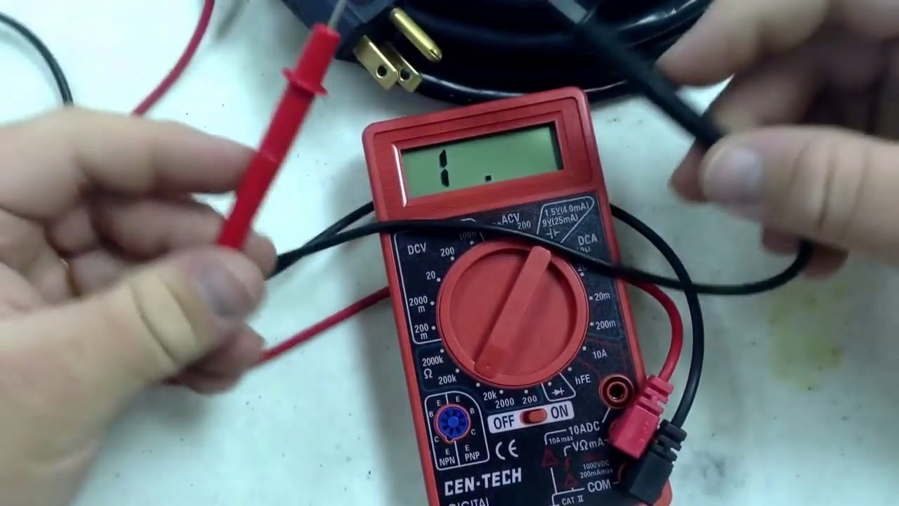 check to see if cord works with cen-tech digital multimeter from harbor  freight