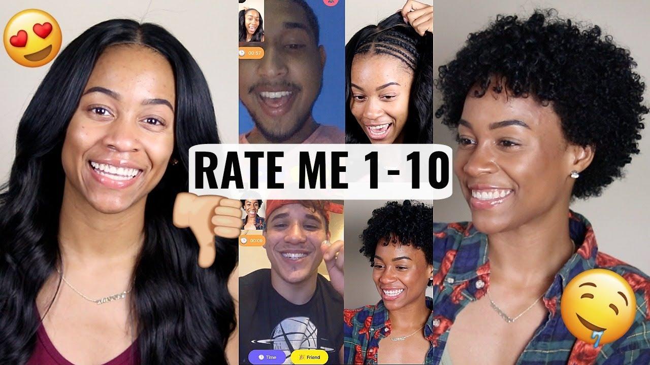 2c467bd2bc6 Asking Random Guys To Rate Me 1-10 On Monkey App || Natural Hair Vs Weave  || Gabrielle Morris