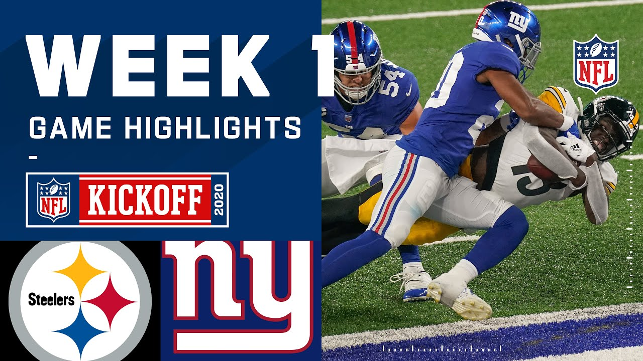 Steelers vs. Giants Week 1 Highlights | NFL 2020