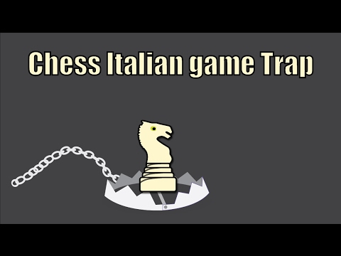 Italian game chess trap - less known but still powerful