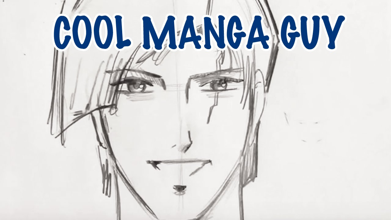 How to draw a cool manga guy step by step