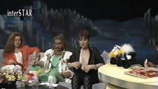 Televizyonda göğsünü açan Türk erotik şair Nara Benek (1992 yılından)