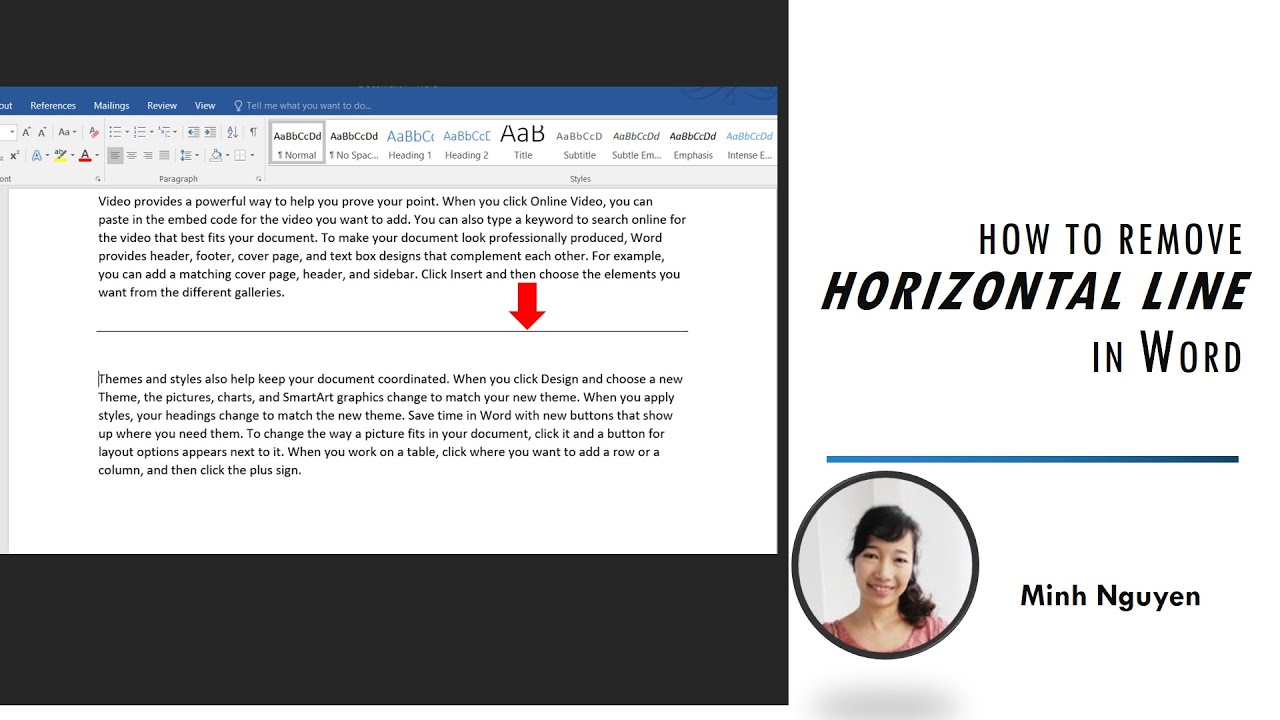 How to remove horizontal line in Word - YouTube