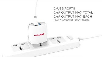 Marakoko MA4-IPH 2.4AMPS Certified With Lightning Cable Iphone Mobile Charger