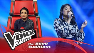 Harini Madhusha - Seetha Ra Yame(සීත රෑ යාමේ) | Blind Auditions | The Voice Sri Lanka Thumbnail