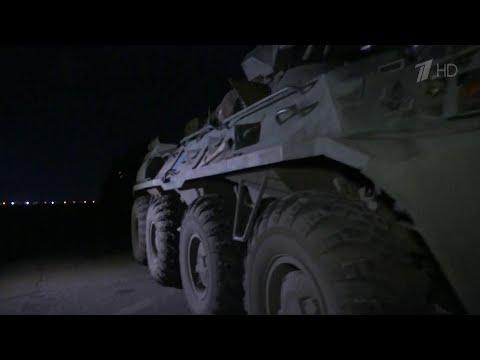 Съемочная группа Первого канала отправилась с российскими миротворцами в Нагорный Карабах.