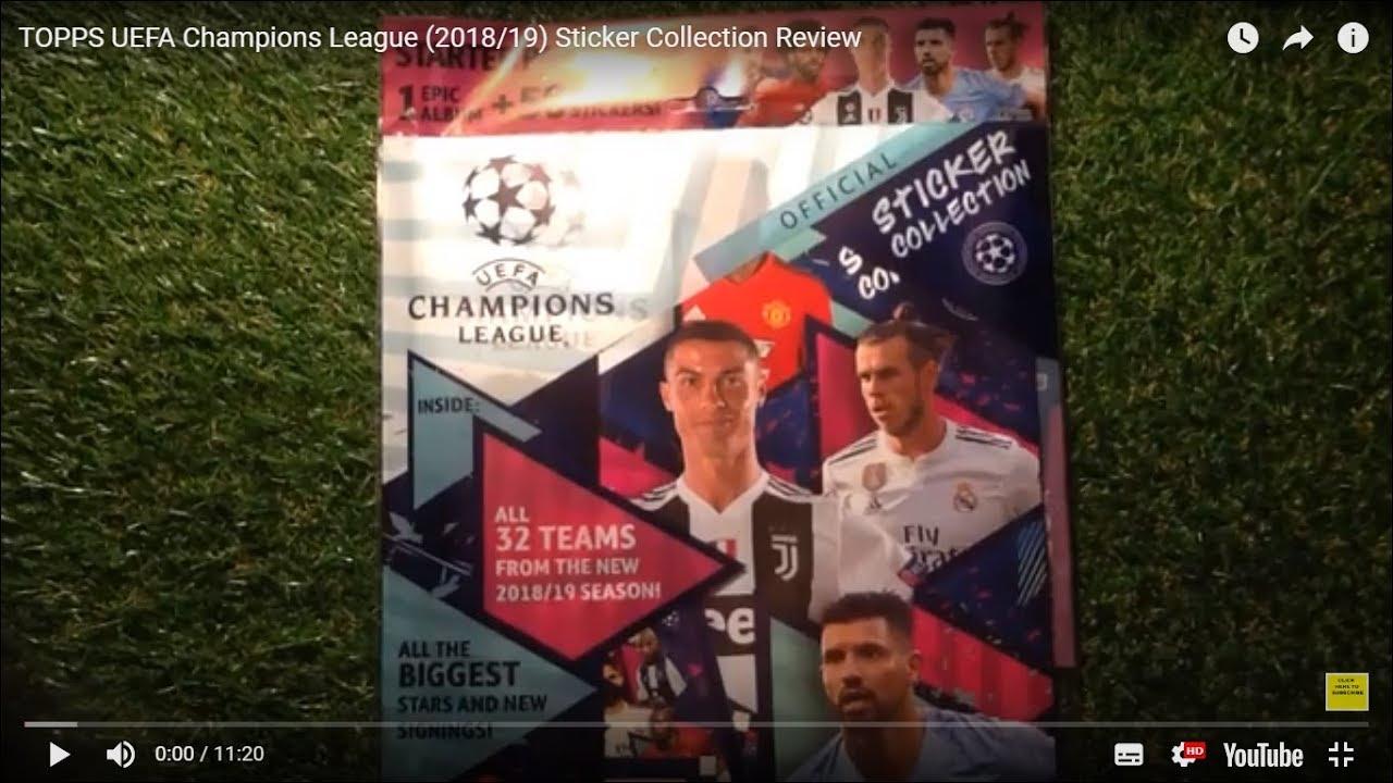 Champions League 18//19 2018 2019 Sticker 1 Album 10 Tüten TOPPS