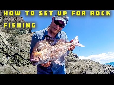 HOW TO SET UP YOUR FISHING GEAR FOR THE ROCKS & SHORE FOR SNAPPER, TREVALLY & KAHAWAI