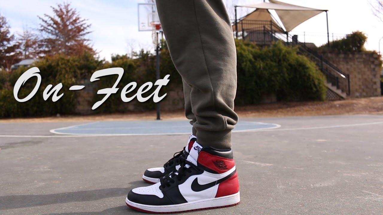 huge discount 86d14 b8588 2016 Jordan 1  Black Toe  On-feet - YouTube