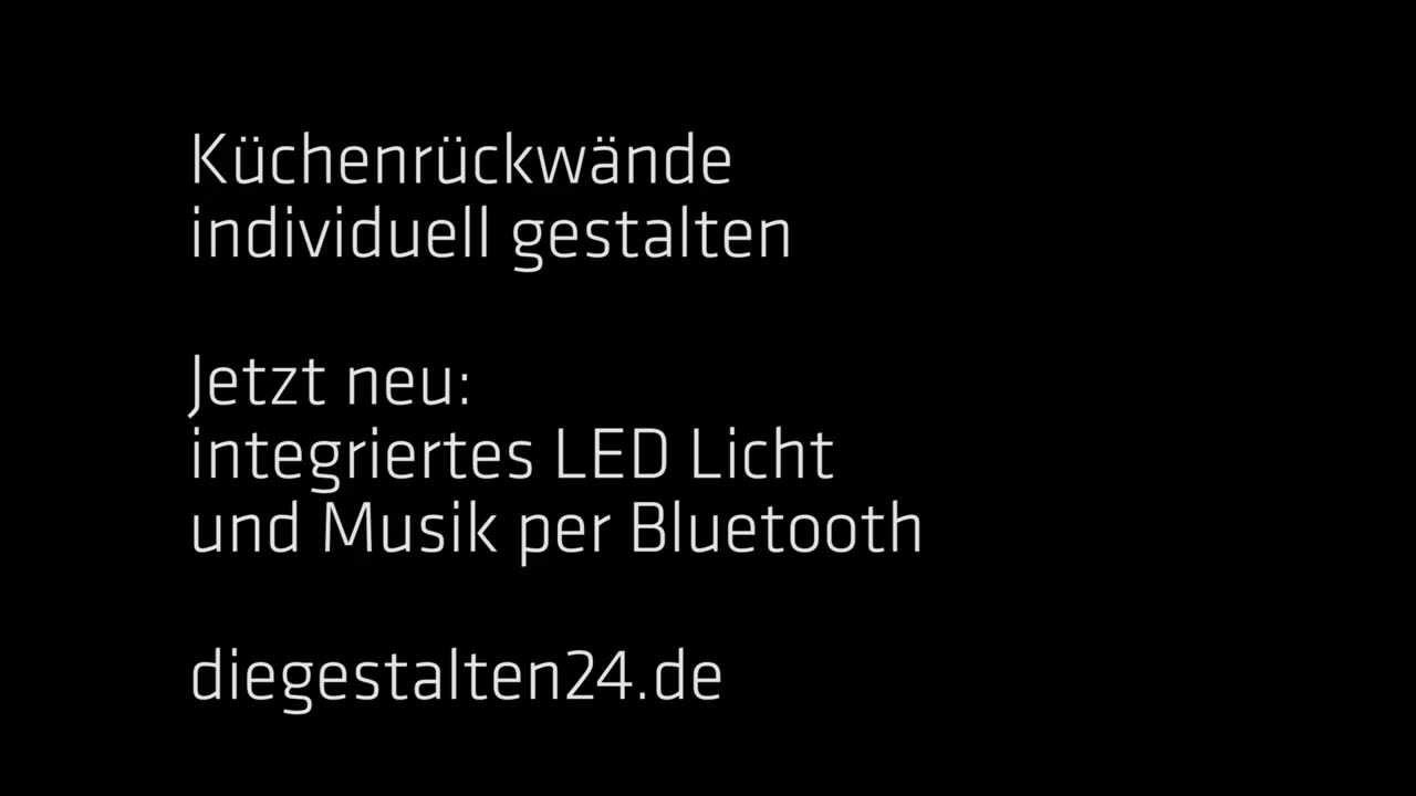 LED Küchenrückwand mit Musik per Bluetooth - YouTube