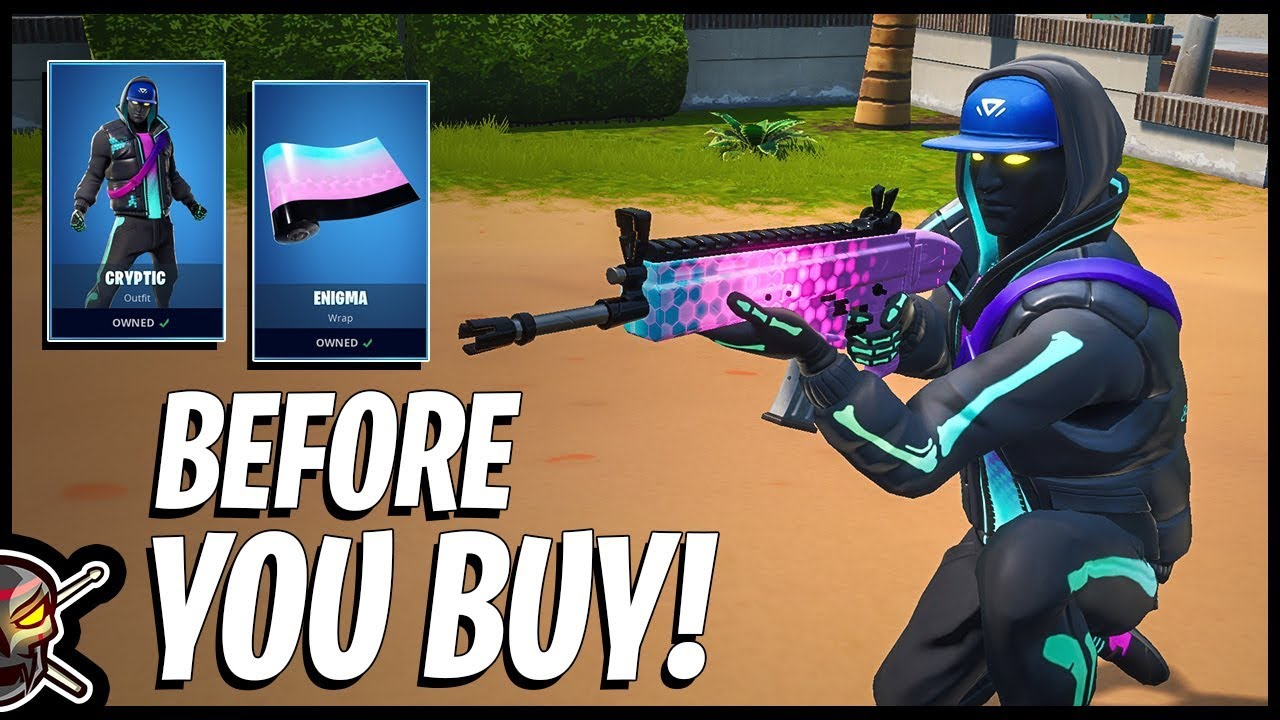 Before You Buy The *NEW* CRYPTIC Skin and ENIGMA Wrap in Fortnite!