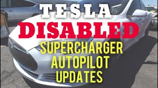 TESLA SALVAGE DISABLED  Autopilot Supercharger Updates