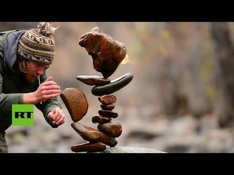 Arte en equilibrio: Este artista desafía la ley de la gravedad
