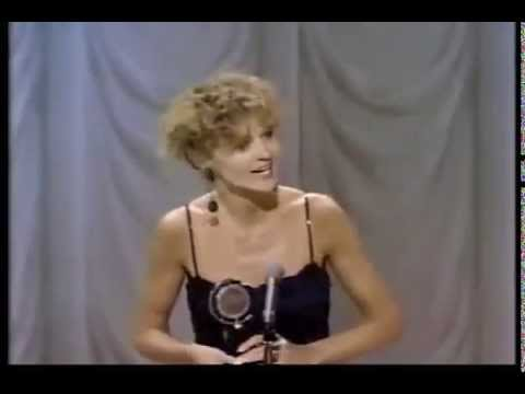 Joan Allen wins 1988 Tony Award for Best Actress in a Play