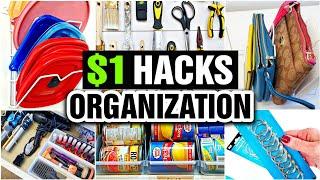 Dollar Tree Organization Hacks (REALISTIC & PRACTICAL ORGANIZING IDEAS!)