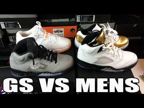 Jordan Retro Sizes Men's Vs Youth Comparison Review (Kids 9Y Vs Mens 9)