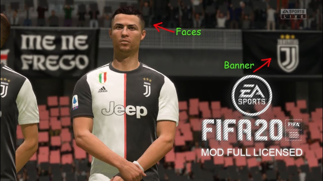 Fifa 20 Juventus Mod Full Licensed Kits Faces Squads Update Etc Youtube