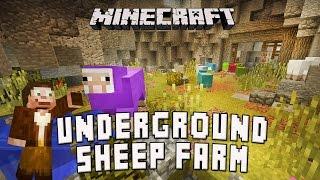 Minecraft: Underground Sheep Farm Build  (Scarland Survival Base Ep.5)