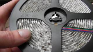 видео Светодиодная лента 12V IP65 5050/60 led standart 3600 Lm (герметичная, красный свет)