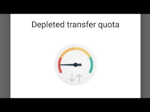 Como tirar depleted transfer quota erro. do mega