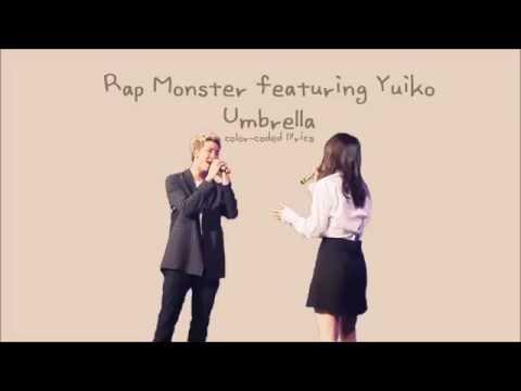 Rap Monster 김남준 & Yuiko 유이코  우산 Umbrella Lyrics ColorCoded, HANROMENG