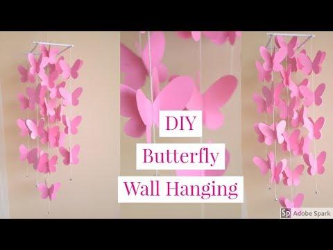 DIY |  PAPER BUTTERFLY WALL DECOR  |  Paper Windchime