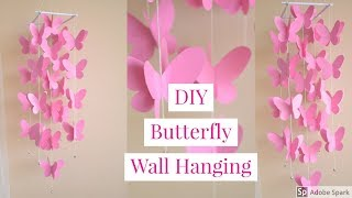 DIY |  PAPER BUTTERFLY WALL DECOR  |  Paper Windchime
