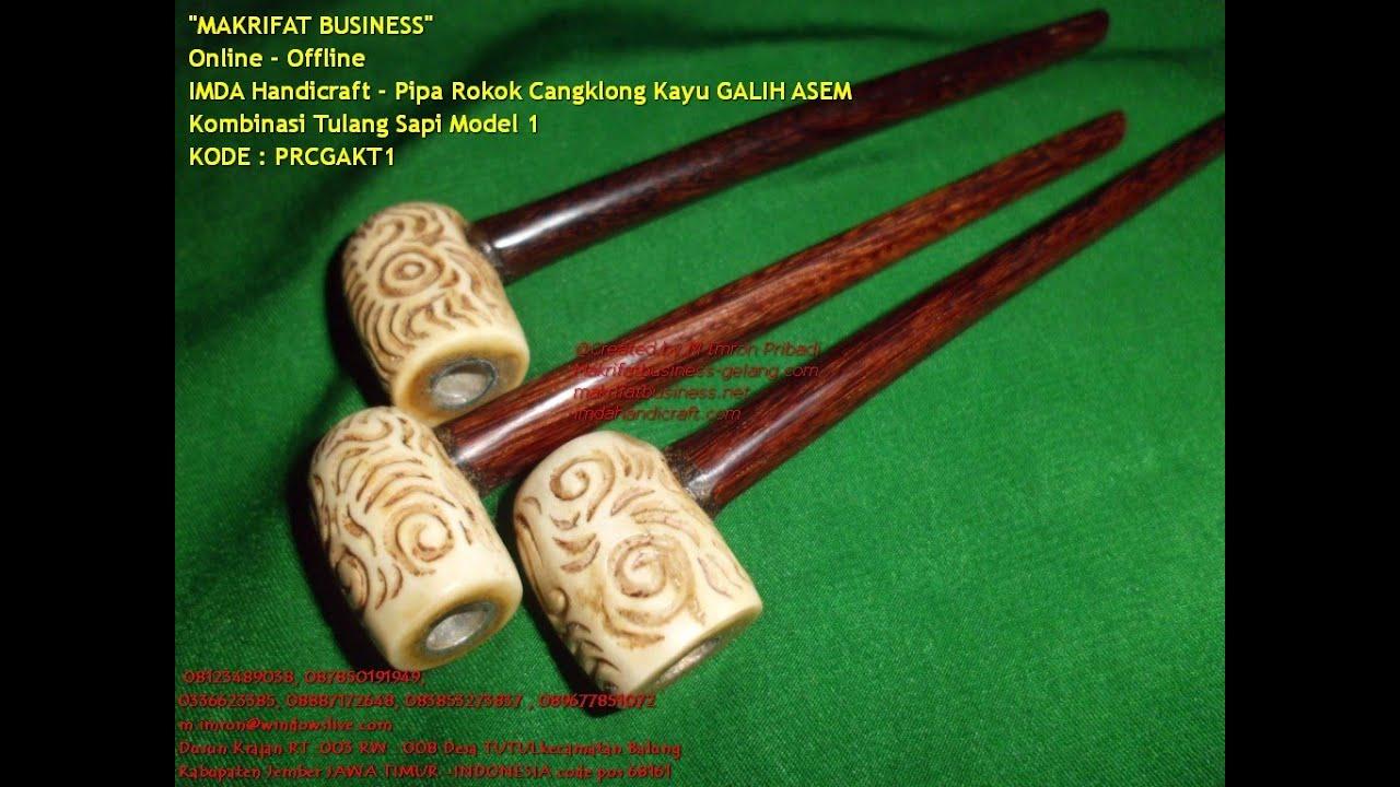 Pipa Rokok Cangklong Kayu Galih Asem Kombinasi Tulang Sapi Model 1 You