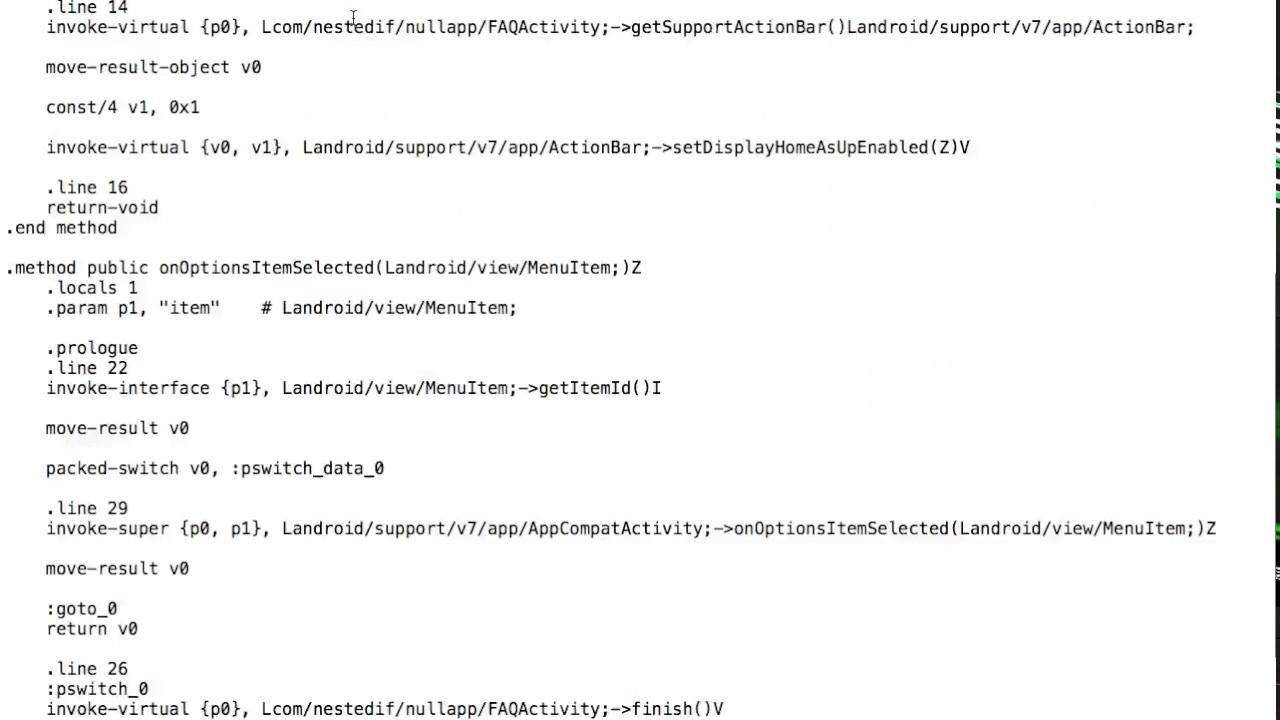 3  Reverse Engineering Android  apk using ApkTool to get  Smali