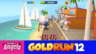 My Talking Angela Gold Run Play for Children Full Episode #12