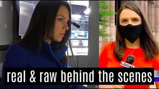 real & raw day in the life of a TV news reporter (things take a turn)