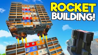 I Attached 1,000 ROCKETS to a Skyscraper Tower and Made it FLY! (Teardown Mods)