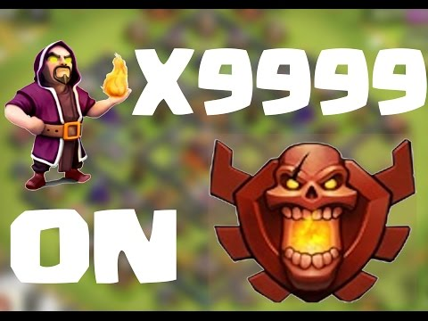 CLASH OF CLANS - ATTACK WITH 9999 WIZARDS