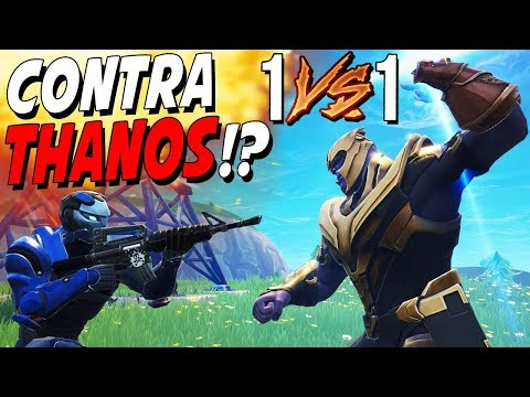 1VS1 contra THANOS en FORTNITE!! ¿ES POSIBLE CONSEGUIRLO? NUEVA SKIN GRATIS | FORTNITE