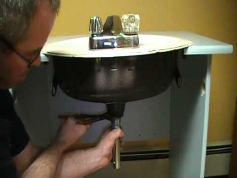 Old Plumber Shows How To Install A Drain On A Bathroom Sink (basin).Mechanical  P.O.plug   YouTube