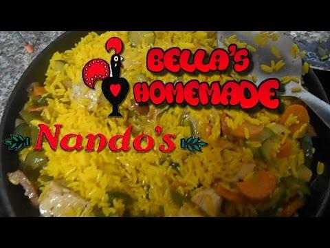 nandos-spicy-rice,-chicken-strips-&-halloumi-cheese---homemade-recipe
