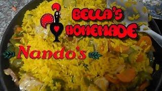 Nandos Spicy Rice, Chicken Strips & Halloumi Cheese - Homemade Recipe