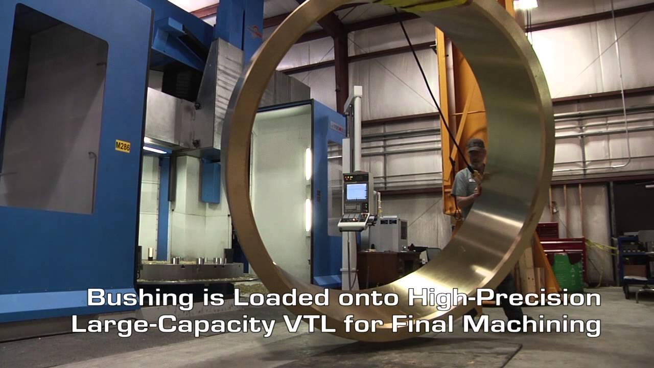 large diameter bronze bushings excel foundry machine youtube