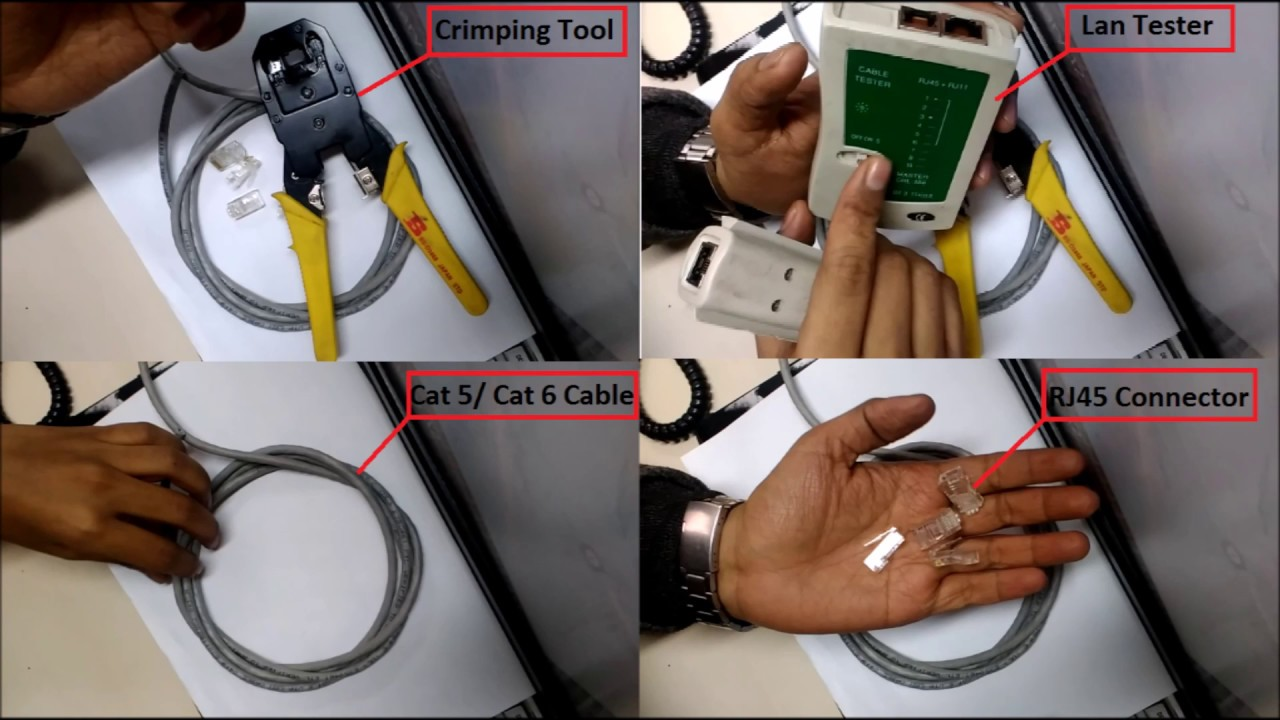 How to make a CAT6 Network Cable - Straight Through Color Coding ...