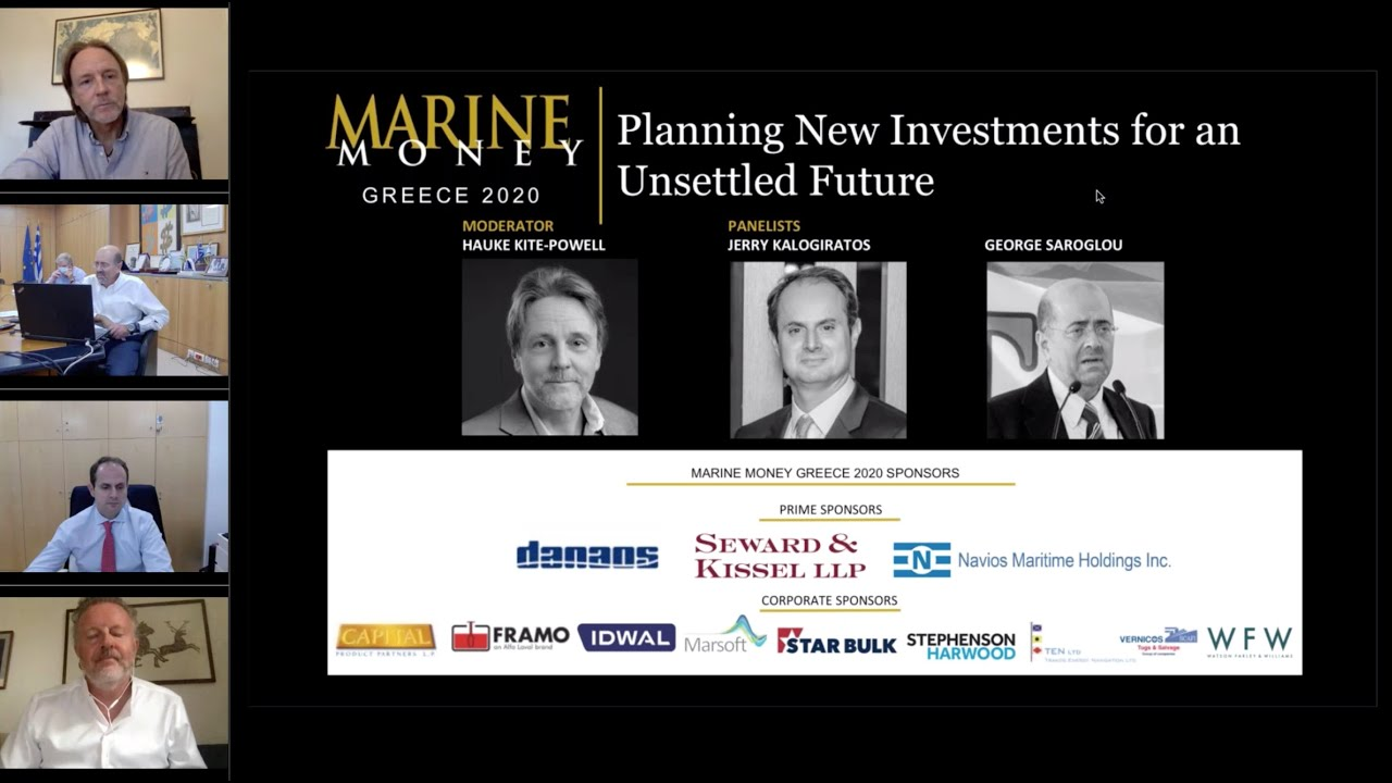 Marine Money Greece 2020 on 6th October, 15.00 CET
