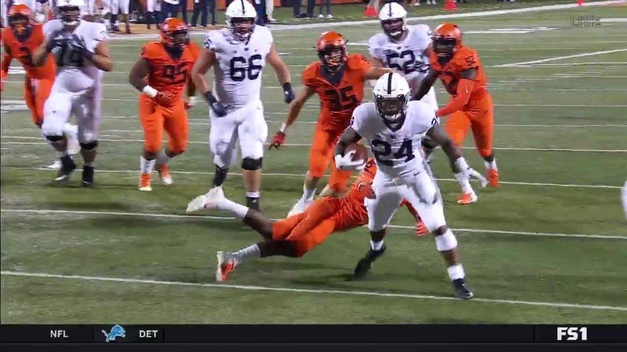 Miles Sanders Rushes for 14-yard TD vs. Illinois   Penn ...