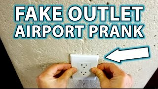 FUNNY: FAKE OUTLET PRANK AT THE AIRPORT