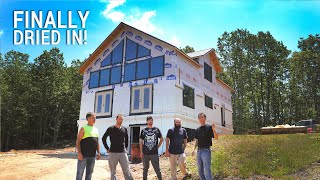 ICF Mountain Homestead: Finally Dried In!