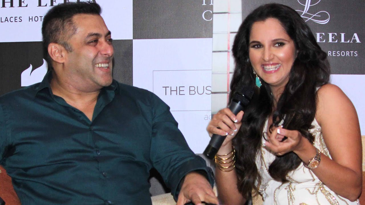 Salman Khan & Sania Mirza At 'Ace Against Odds' Book Launch