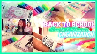 Back To School- Binder & Planner Organization! 📖📝♥ | Xlivelaughbeautyx