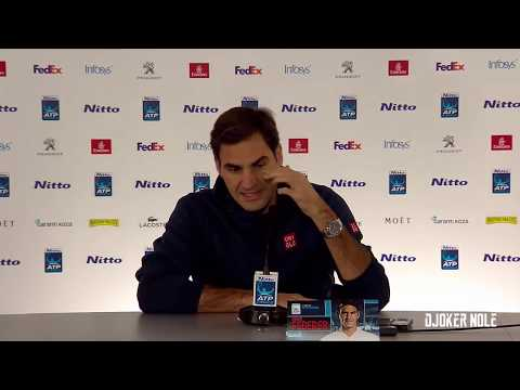 "Roger Federer ""I can't be in a group with Novak!"" - ATP Finals 2018 (HD)"