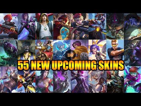 55 NEW UPCOMING SKINS - Mobile Legends: Bang Bang!